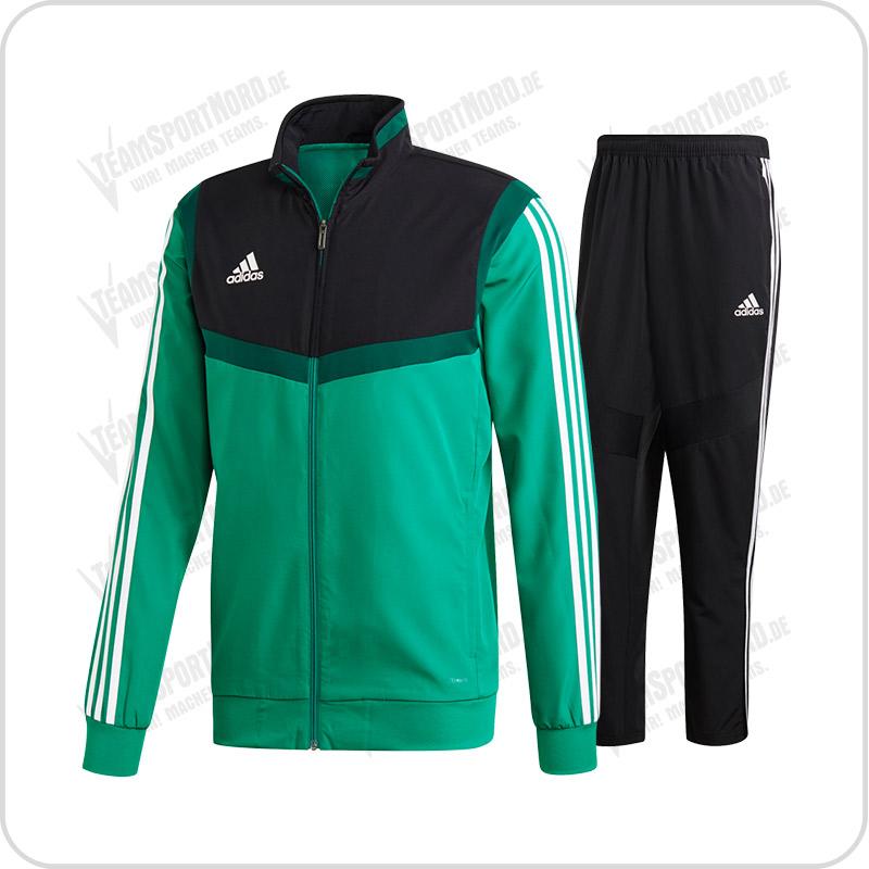 Adidas Tiro 19 Präsentationsanzug bold green weiß